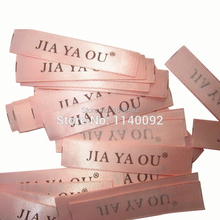 free shipping custom clothing woven labels/garment satin tags/clothing tag printing/embroidered fabric label 1000 pcs