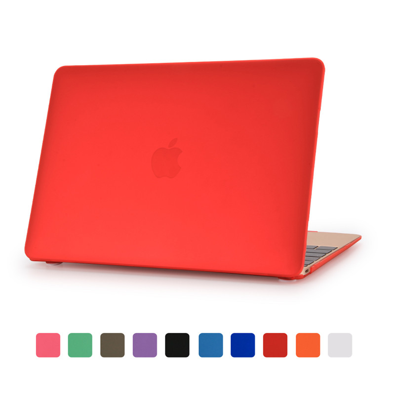 for macbook 12 inch case retina red color matte transparent good protector for apple mac book air pro retina 11 12 13 15