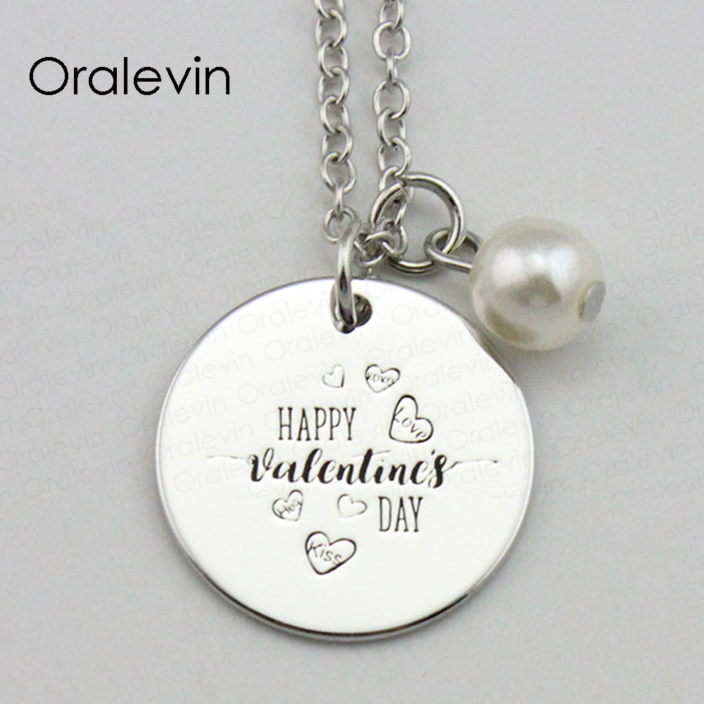 Bees in Flowers Necklace Personalized Engraved Heart Custom Gift Pendant-Valentines Day Love