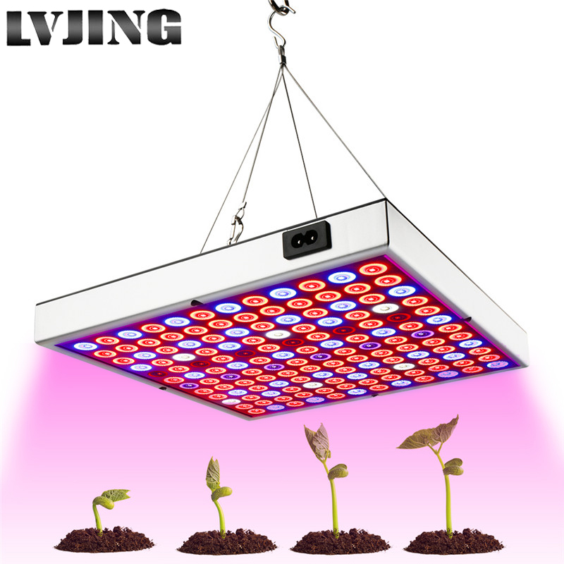 45W 25W LED Grow Light Full Spectrum Panel Red Blue White IR UV Growth Lamp  For Indoor Plants Flower Seed Greenhouse Hydroponic