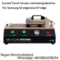 TBK Professional Curve Phone LCD Screen Vacuum Pump OCA film and Polarizing film Laminating Machine for Samsung S6 S7 edge plus