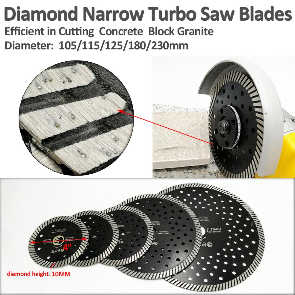 Купить с кэшбэком SHDIATOOL 2 pcs Diamond Hot Pressed Turbo Blades Granite Marble Cutting Disc Multi Holes Sawblades Diamond Cutting Discs Wheel