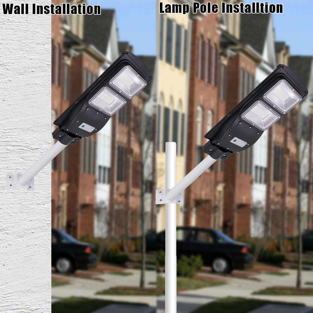 60/90 W светодиодный солнечный свет движения PIR Сенсор стены синхронизации лампы высокого качества водонепроницаемый светильник с солнечной батареей напольный светильник Солнечная