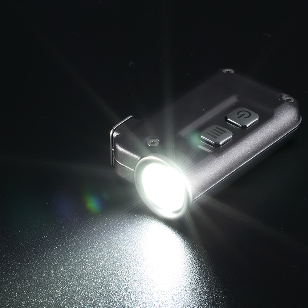 NITECORE TINI Keychain Light 380Lumen CREE XP-G2 S3 LED USB Rechargeable Built-in Battery Key Button Flashlight Outdoor MINI EDC 5