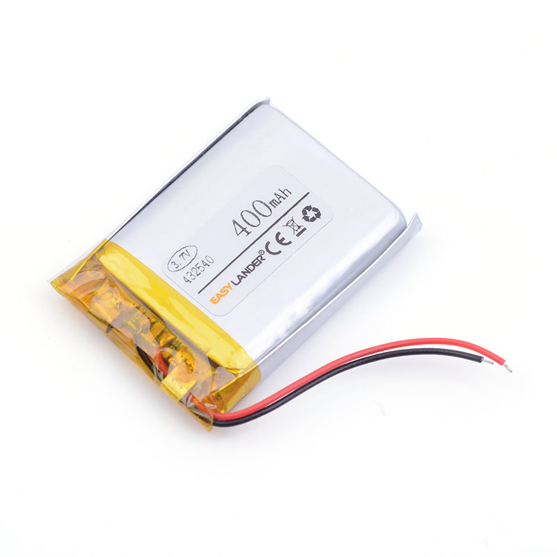 432540 400 mAh 3.7 V lithium Li ion polymère rechargeable batterie point lecture stylo conduite enregistreur PS Bluetooth Headse MP3 MP4