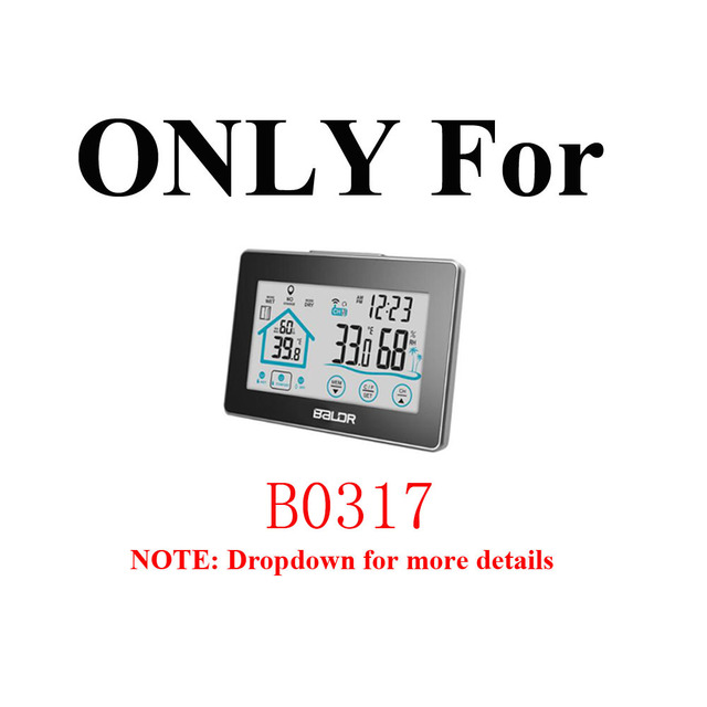 Baldr Wireless Remote Sensor Temperature Humidity Display Matching ONLY for Model B0317 Touch Button Weather Station Thermometer