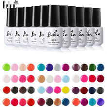 Belen ALl 79 Colors With Base Top Coat UV LED GelPolish Vernish Semi Permanent Gel Lak Varnishes Gel Nail Polish Lacquer 7ML(China)