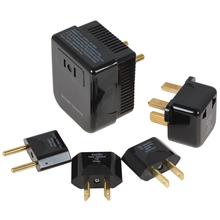 Black Soshine 4 in 1 US / UK / EU / AU Universal 220/240V to 110/120V Converter and Plug Set Adapter