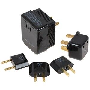 Image 1 - Black Soshine 4 in 1 US / UK / EU / AU Universal 220/240V to 110/120V Converter and Plug Set Adapter