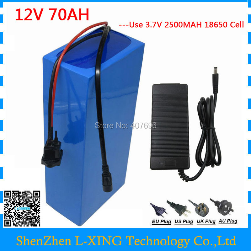 350W 12V 70AH battery 12Volt 70AH 70000MAH Lithium ion battery 30A BMS for 12V 3S Ebike Batteries 5A charger EU US no tax free customs fee 350w 12v 40ah battery 12 v 40000mah lithium ion battery for 12v 3s rechargeable battery 12 6v 5a charger
