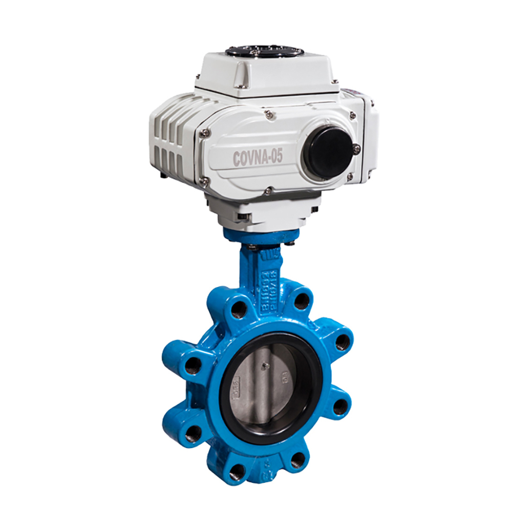Casting Lug Type 4 inch Motorized Butterfly Valve On Off Type DN100 Cast Iron Lug Electric