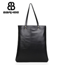 BARHEE New List Leather Ladies Hand Bag Tote Large Women Shoulder Bag Daily Vintage Women Messenger Bag Causal Black Handbag
