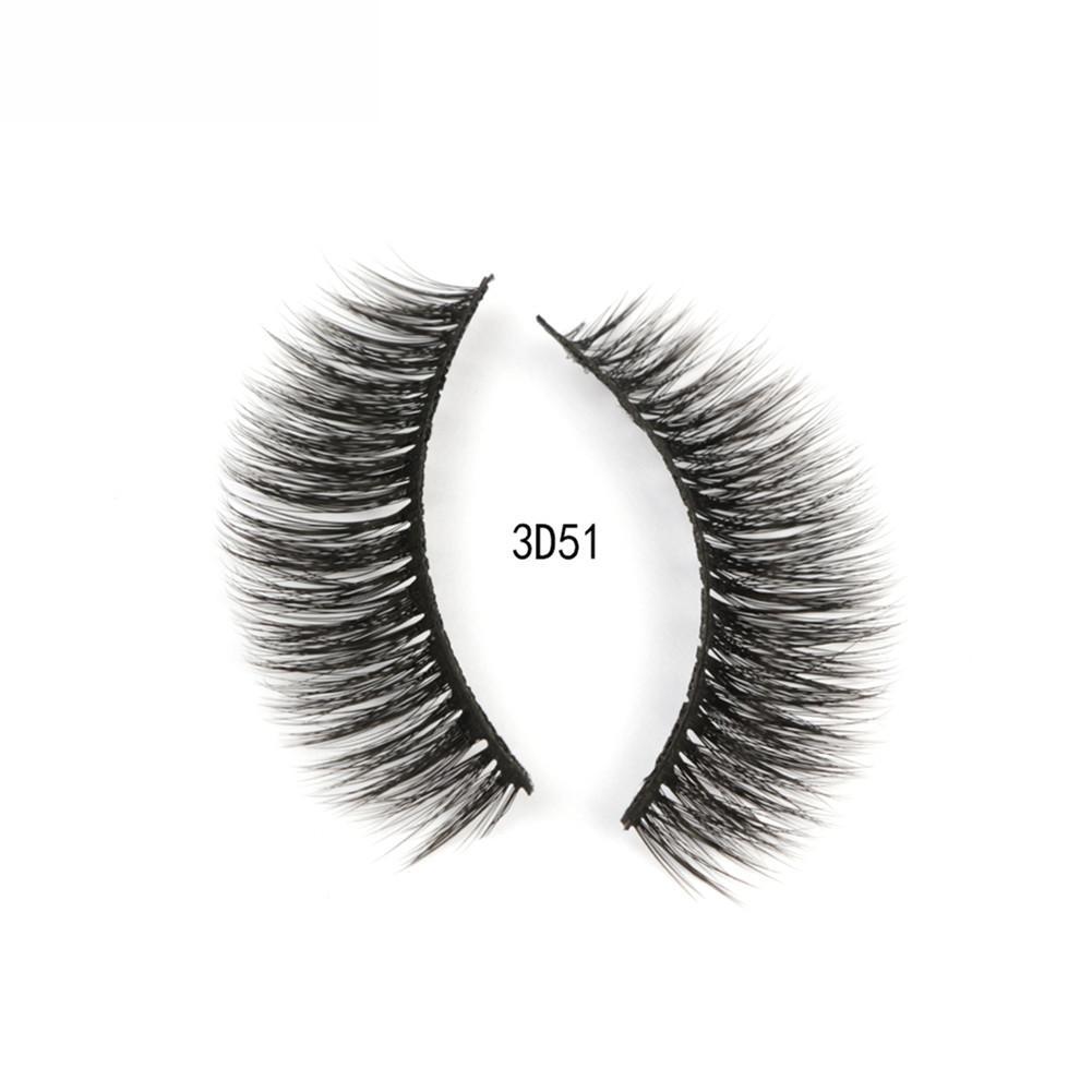 3 Pairs Mink Hair False Eyelashes 3D Natural Thick Handmade Full Strip Long Fake Eyelash Makeup Eyelashes Extension Beauty Tool