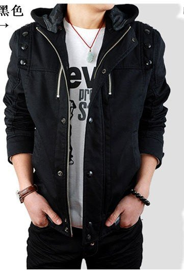 2010 New Style Casual Men's Outerwear Cotton Coat Both Sides Of Jacket Size:M.L.XL #