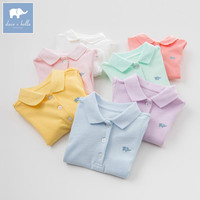 DB7716 Dave Bella Summer Infant Baby Girls Fashion T Shirt Kids Cotton Lovely 7 Color Sport