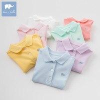 DB7716 Dave Bella Summer Infant Baby Girls Fashion T Shirt Kids Cotton Lovely 7 Color Sport