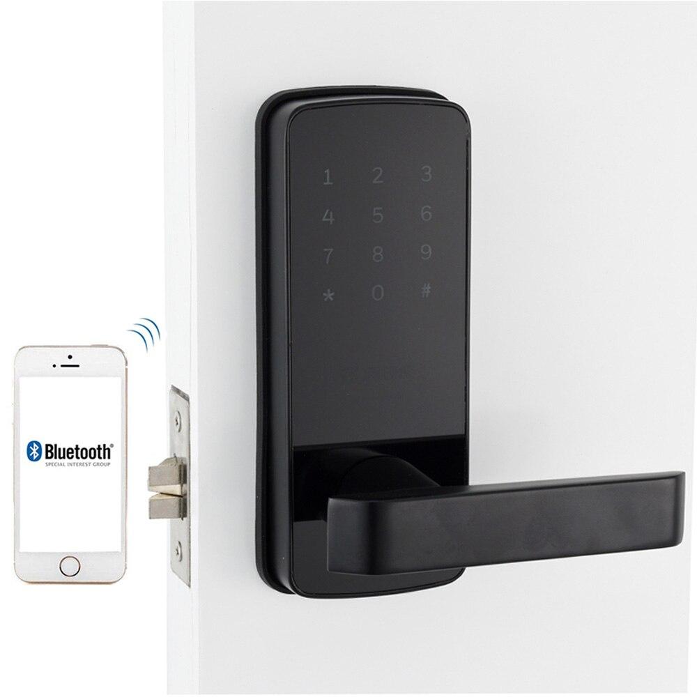 Serrure de Porte à puce WiFi, sans clé Corée Style App Numérique Serrure De Porte Bluetooth Smart Mot de Passe Code Pin de Verrouillage Électronique Serrure De Porte