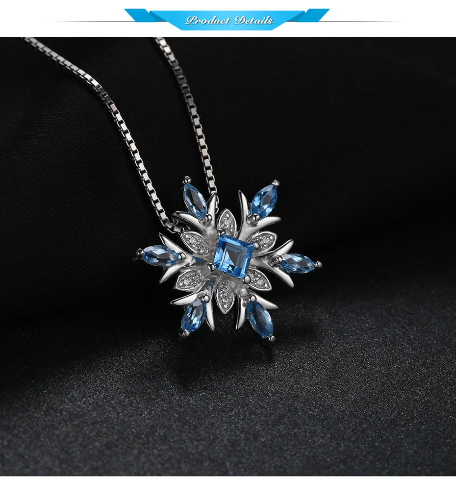 Fine Jewelry Womens Blue Topaz Sterling Silver Pendant Necklace LZNjxE5w