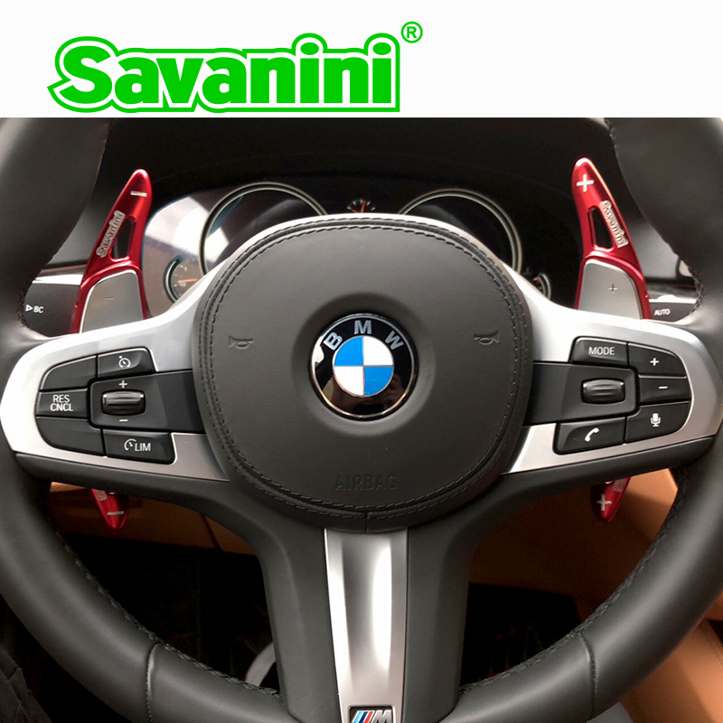 Savanini Steering Wheel Shift Paddle Shifter ExtensionFor BMW New 5 ser 530i M 540i M 6