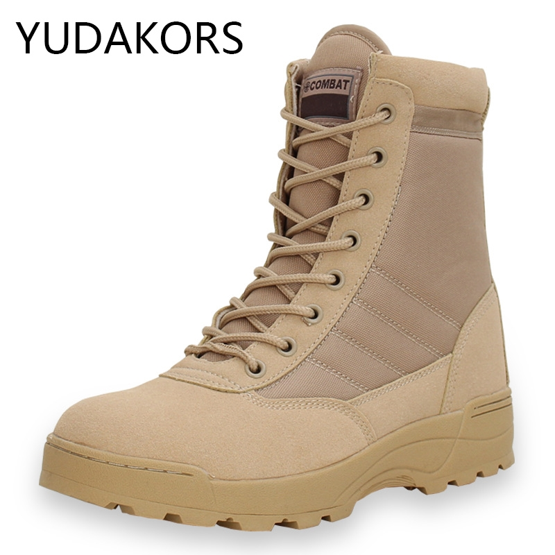 Men desert military tactical boots Outdoor waterproof hiking shoes sneakers for women non-slip wear sports climbing shoes YD88