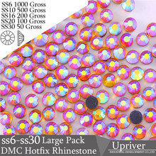 Upriver Wholesale Large Pack Bulk Packing Glass SS16 SS20 SS30 Hyacinth AB  Hotfix Rhinestones b71ebb578583