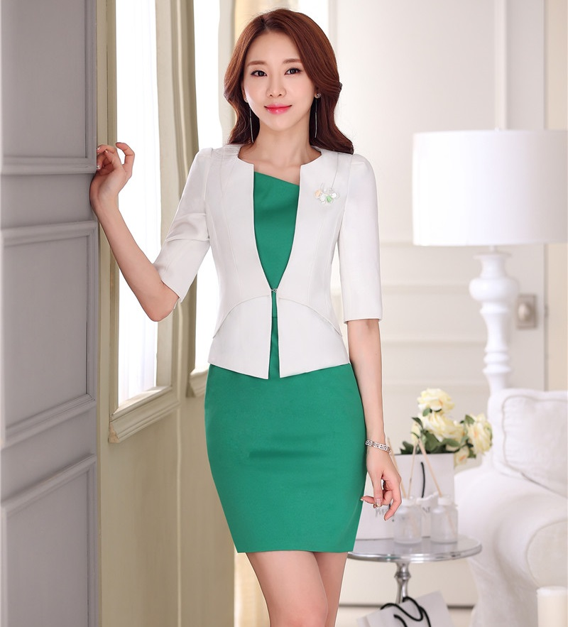Formal OL Styles Spring Summer Professional White Business Women ...