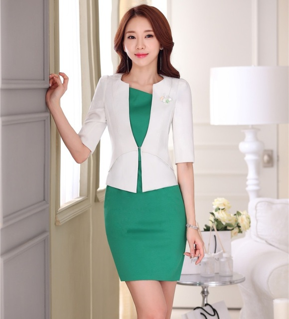 Formal Ol Styles Spring Summer Professional White Business Women