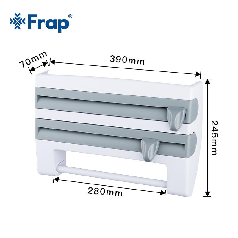 Frap Kitchen Racks Refrigerator Cling Film Storage Rack Wrap Cutter Wall Hanging Paper Towel Holder Kitchen Organizer Y14018/-1 2