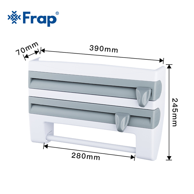 Frap Kitchen Racks Refrigerator Cling Film Storage Rack Wrap Cutter Wall Hanging Paper Towel Holder Kitchen Organizer Y14018/-1 2
