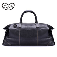 New leather travel bag men's portable large capacity business travel luggage bag first layer Mad cow leather luxury handbags недорого