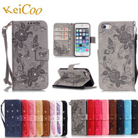 Stylish Elegant Embossed PU Leather Cases For Apple IPhone 5S Book Flip Art Covers Wallet Stand