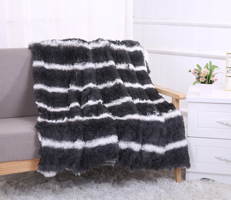Super Soft Plaids Long Shaggy Fuzzy Fur Faux Blanket Warm Elegant Cozy With Fluffy Sherpa Throw Bed Sofa Blankets Bedspread Gift