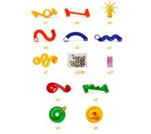 105pcs Marble Race Run Maze Balls Construction Game Plastic Tracks Assembly Building Set Educational Toys for Children Gift