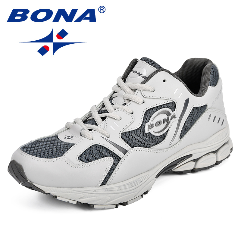 BONA Autumn Men's Sneakers 2018 Men Running Shoes Trending Sports Shoes Breathable Trainers Jogging Shoes Comfortable Outdoor