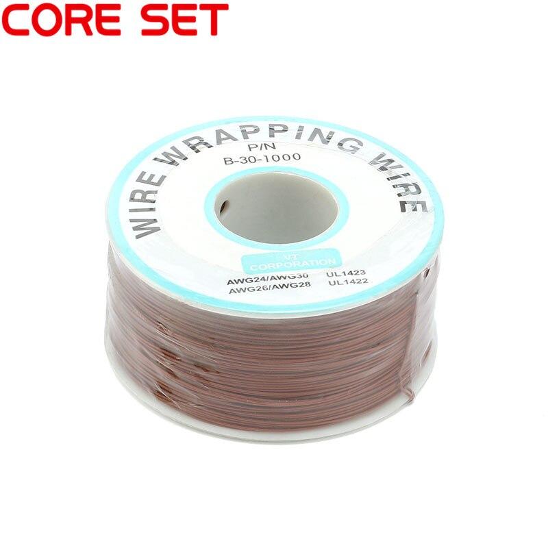 250 м/лот 30 AWG оберточный провод 10 цветов одножильный медный кабель Ok провод электрический провод для ноутбука Материнская плата PCB припой - Цвет: Brown