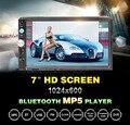 7023D 2 Din Coche Reproductor de Vídeo Auto Audio Estéreo Reproductor MP5 7 pulgadas 2Din Coche Reproductor de MP3 USB de la Ayuda FM Bluetooth Cámara de Visión Trasera