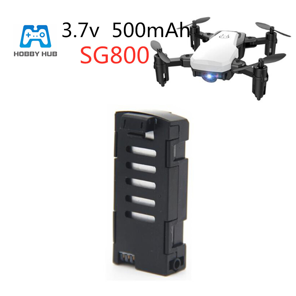 1pcs 3.7V <font><b>500mAh</b></font> SG800 Li-po <font><b>Battery</b></font> For SG800 RC Drone <font><b>Battery</b></font> spare parts Replace toys <font><b>battery</b></font> Quadcopter Spare Parts <font><b>3.7</b></font> v image