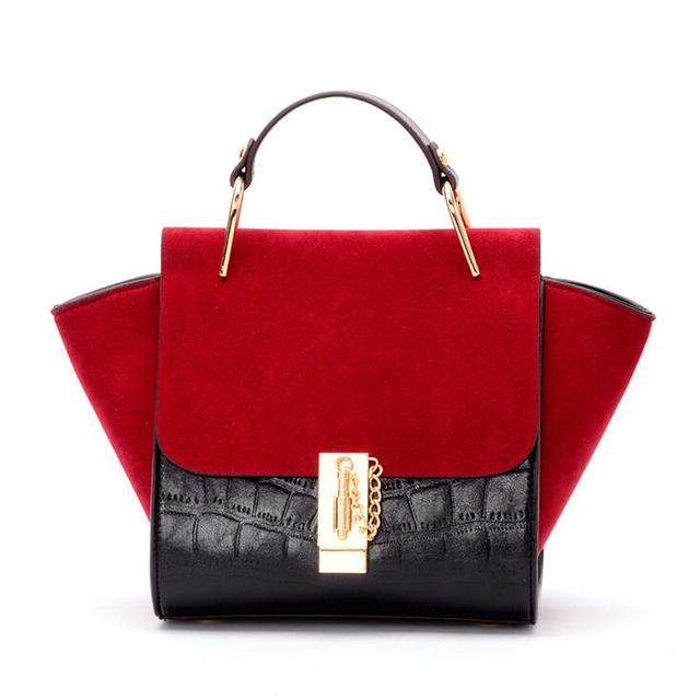 New Designer Women Trapeze Handbag Alligator Leather Shoulder Bags Ladies Tote Messenger Bags High Quality Wings Bags Sac A Main