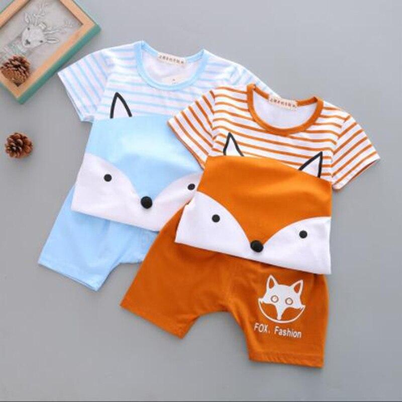 SexeMara/2 шт. комплекты для мальчиков одежда для малышей Летняя детская с принтом для мальчиков комплект одежды с героями мультфильмов новая де...