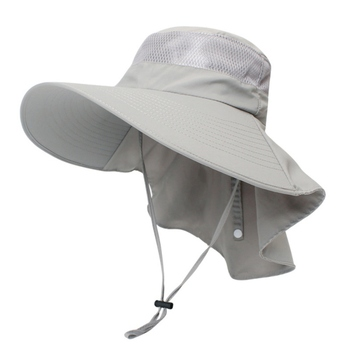 Outdoor Sun Protection Caps Breathable Hunting Fishing Hat Cap Wide Brim With Neck Flap Women Men's Sportswear - sale item Fishing