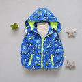 Hot sale boys Spring  cardigan Children's plane pattern clothes kid zipper jacket outerwear windbreaker tops suit for 2Y-6 Y