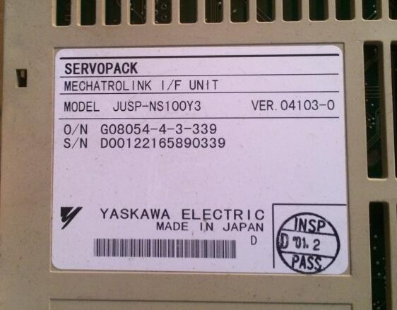 Servo  driver JUSP-NS100Y3      , Used one , 90% appearance new , 3 months warranty  , in stock Servo  driver JUSP-NS100Y3      , Used one , 90% appearance new , 3 months warranty  , in stock