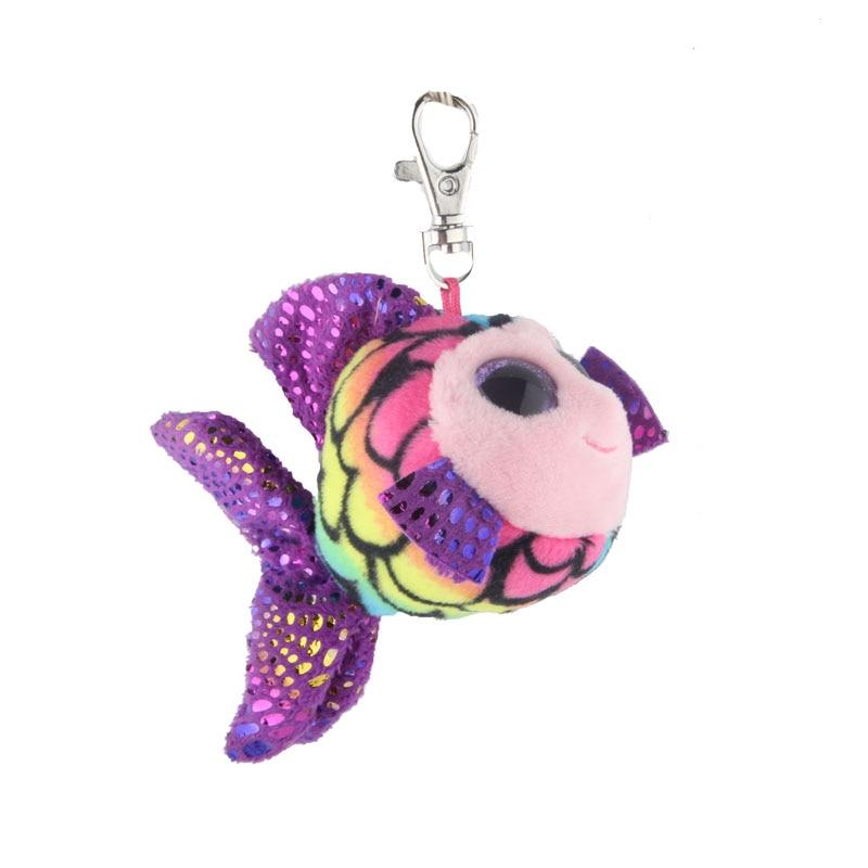 Ty Шапочка Боос большие глаза Плюшевые красочные Золотая Рыбка брелок игрушка кукла TY подарок для маленьких детей ...