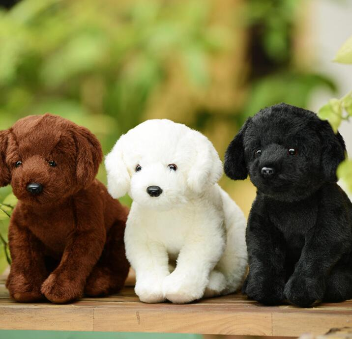 Soft Stuffed Toy Simulation Puppy Plush White Labrador Doll Toys Cute Child Birthday Present cute poodle dog plush toy good quality stuffed animal puppy doll model soft doll kids gift baby toy christmas present