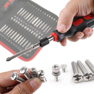 Image 3 - Julaihandsome 55PC Extra Long Bits Set S2 Screwdriver with Magnetic 75mm Length Tool Bag Packing