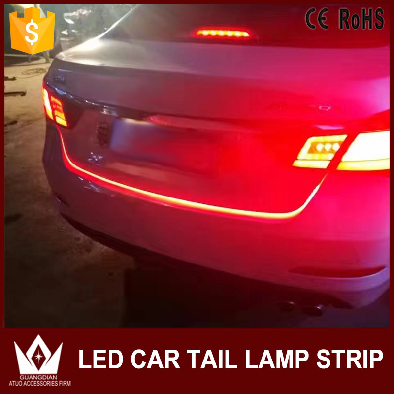Tcart 1Set Ice Blue+Red Auto Led Flow Type Lights Car Accessories Tail Gate Lamp LED Strip Reverse Brake Turn Signals For Toyota tcart 2x auto led light daytime running lights turn signals for toyota prius highlander for prado camry corolla t20 wy21w 7440