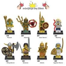 Egípcio antigo Viking guerreiro soldado Blocos de Construção de brinquedos DIY LegoINGlys Múmia Compatível Com Armas de Ação Brinquedos para crianças