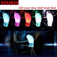 5 6 7 Speed Car LED Gear Shift Knob Pen Cover For Infiniti Buick Peugeot 307 206 407 301 3008 308 Seat Leon Lexus chery Saab