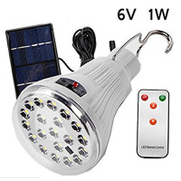 1W Solar Panel Powered Super Bright 20 LED Bulb Portable Hook Lamp For Outdoor Fishing Hiking