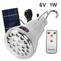 1 W Pannello Solare Powered Super Bright 20 LED Lampadina Lampada Gancio Per Outdoor Pesca Escursionismo Luce di Campeggio Tenda Portatile emergenza